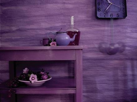 a composition of purple