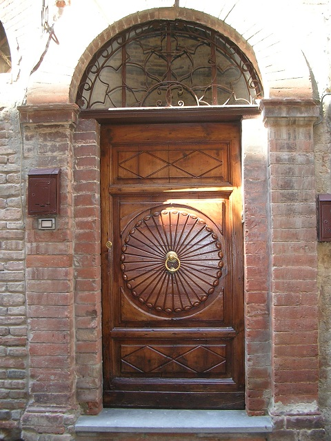 the brown door
